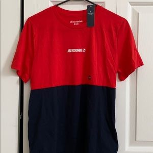Abercrombie kids red and blue shirt